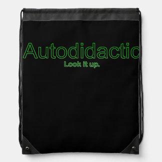 Autodidactic Drawstring Bag