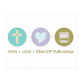 Autoedición del amor de la fe postal