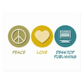 Autoedición del amor de la paz postales