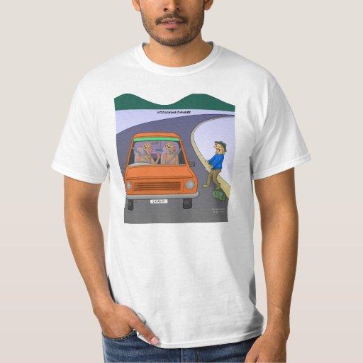 Autoestop de la camiseta del peligro remera