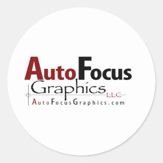 AutoFocus Graphics Classic Round Sticker