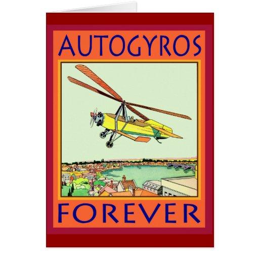 Autogiros para siempre tarjetas