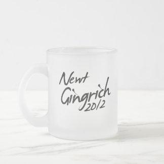AUTÓGRAFO 2012 DE NEWT GINGRICH TAZAS DE CAFÉ
