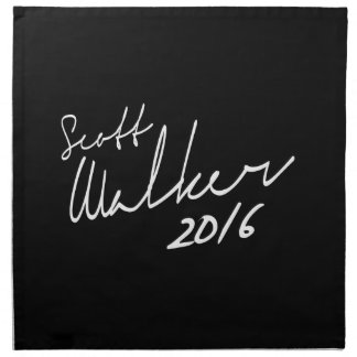 Autógrafo 2016 del caminante de Scott - elección Servilletas