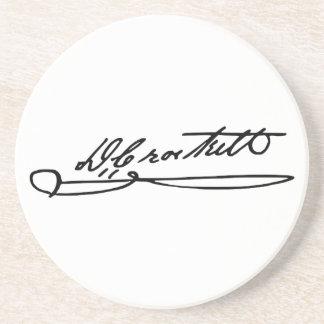 Autógrafo de la firma de Davy Crockett Posavasos Personalizados