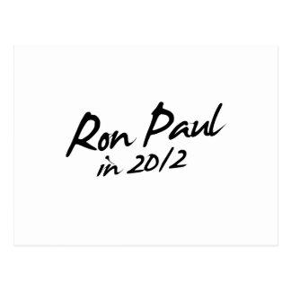 Autógrafo de RON PAUL 2012 Postal