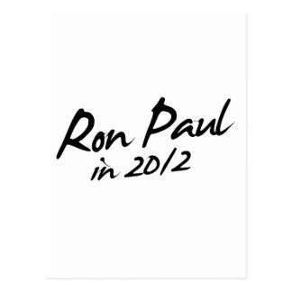 Autógrafo de RON PAUL 2012 Tarjetas Postales