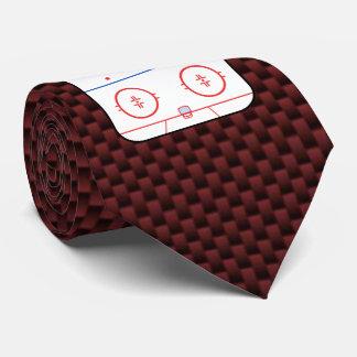 Autógrafo del compañero del juego de hockey listo corbata personalizada