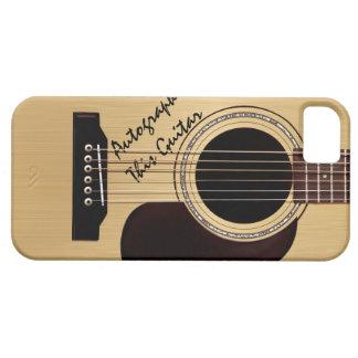 Autógrafo del personalizado de la guitarra acústic iPhone 5 Case-Mate cobertura