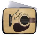 Autógrafo del personalizado de la guitarra acústic mangas portátiles