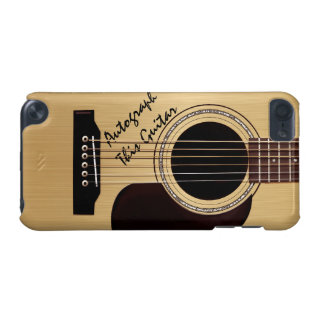 Autógrafo del personalizado de la guitarra funda para iPod touch 5G