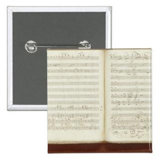 Autograph copy of 'The Magic Flute' 2 Inch Square Button