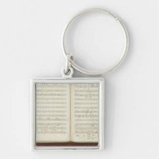 Autograph copy of 'The Magic Flute' Silver-Colored Square Keychain