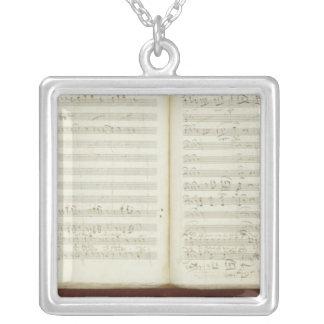 Autograph copy of 'The Magic Flute' Square Pendant Necklace