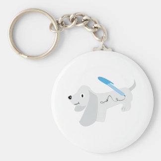 Autograph Dog Basic Round Button Keychain