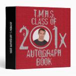Autograph Graduation Book Binder Red 2