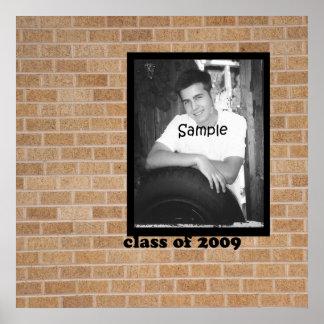 Autograph Graduation Photo Poster