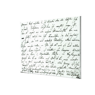 Autograph letter from Franz Schubert Canvas Print