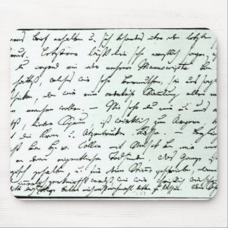 Autograph letter from Franz Schubert Mouse Pad