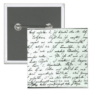 Autograph letter from Franz Schubert Pinback Button