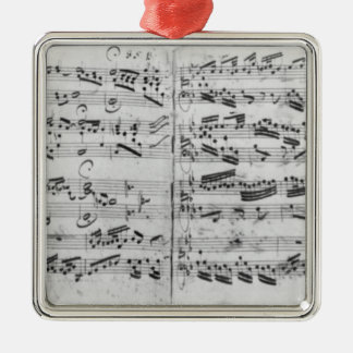 Autograph of the partita 'Sei gegruesset Metal Ornament