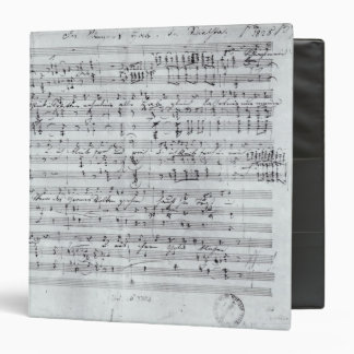 Autograph score for the lied 'Des Sangers Habe' 3 Ring Binder