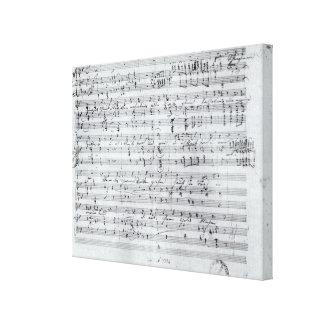 Autograph score for the lied 'Des Sangers Habe' Canvas Print