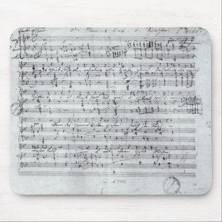 Autograph score for the lied 'Des Sangers Habe' Mouse Pads