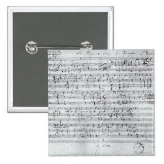 Autograph score for the lied 'Des Sangers Habe' Pinback Button