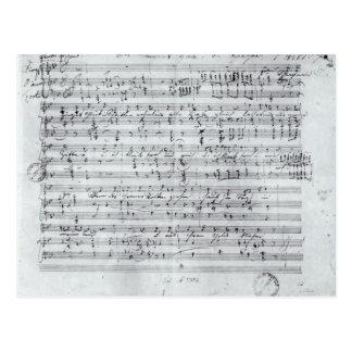 Autograph score for the lied 'Des Sangers Habe' Postcard