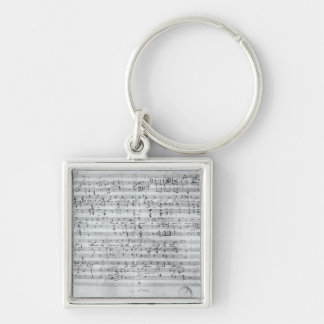 Autograph score for the lied 'Des Sangers Habe' Silver-Colored Square Keychain