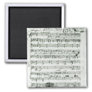 Autograph score for the lied 'Hektors Abschied' 2 Inch Square Magnet