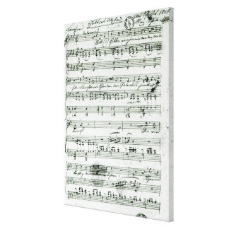 Autograph score for the lied 'Hektors Abschied' Canvas Print