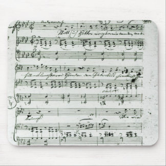 Autograph score for the lied 'Hektors Abschied' Mouse Pad