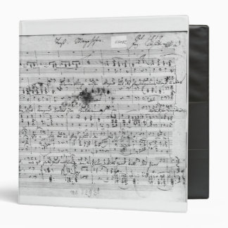 Autograph score for the lied 'Trost' 3 Ring Binder