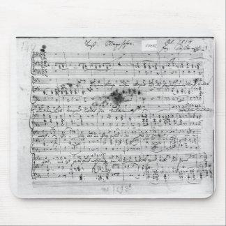 Autograph score for the lied 'Trost' Mouse Pad
