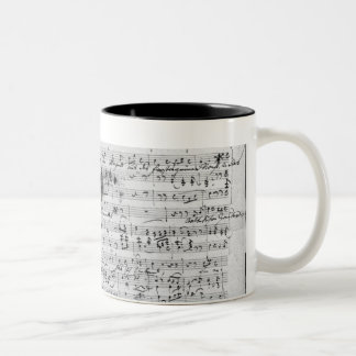 Autograph score for the lied 'Trost' Two-Tone Coffee Mug