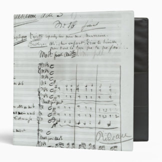 Autograph Score of Act III 3 Ring Binder