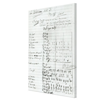 Autograph Score of Act III Canvas Print