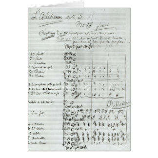 Autograph Score of Act III Card