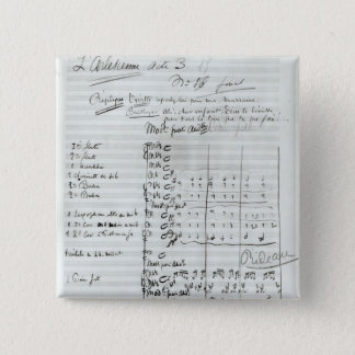 Autograph Score of Act III Pinback Button
