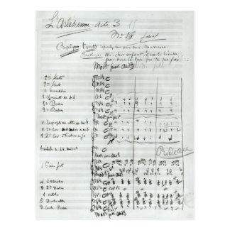 Autograph Score of Act III Postcard