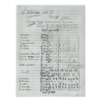 Autograph Score of Act III Poster