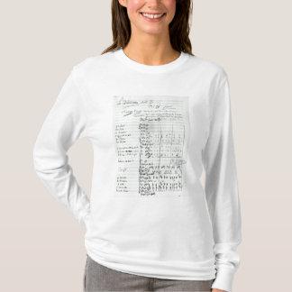 Autograph Score of Act III T-Shirt