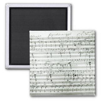 Autograph score of 'Fragment aus dem Magnet