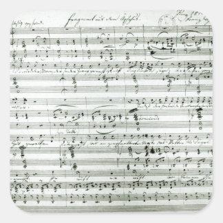 Autograph score of 'Fragment aus dem Square Sticker