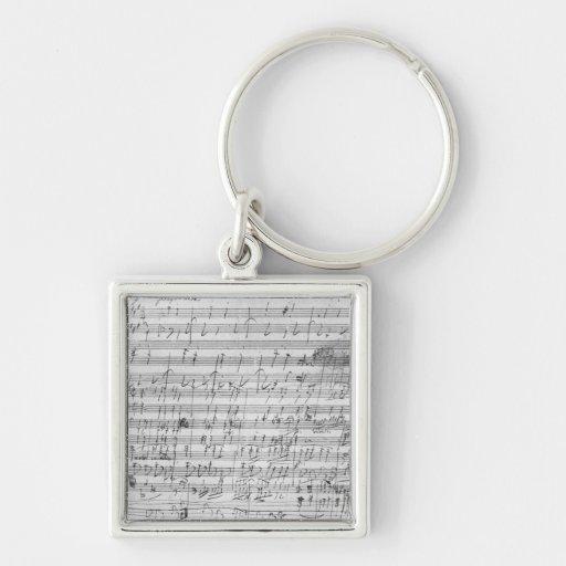 Autograph score sheet for the  Bagatelle opus Key Chain