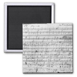 Autograph score sheet for the  Bagatelle opus Refrigerator Magnet