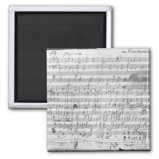 Autograph score sheet for the  Bagatelle opus Magnet