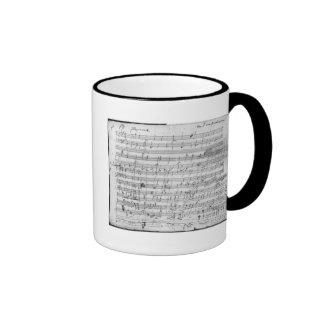 Autograph score sheet for the  Bagatelle opus Ringer Coffee Mug